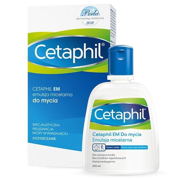 Wieczorny rytuał pielęgnacyjny skóry twarzy kosmetykami Cetaphil